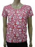 Wholesale Womens Ex Chainstore T-Shirt Top Floral Print - Cerise Pink